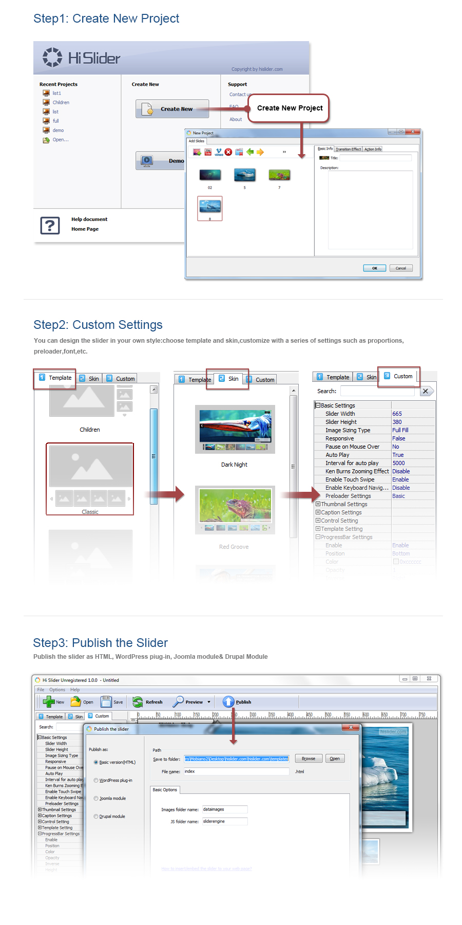 Free joomla slider plugin 2 0 free download hi slider for Free joomla template creator software